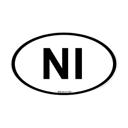 Cafepress intl country code oval sticker northern ireland oval bumper sticker
