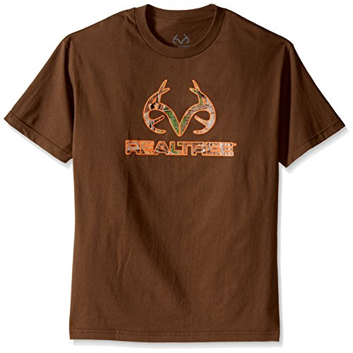 - Realtree Camo Horns Screen Print Tee, XX-Large, Coffee