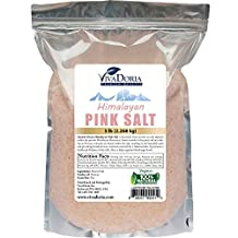 Himalayan Pink Salt Fine Grain Crystal Sea Salt, 5 Pounds