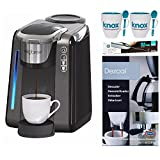 Ekobrew 40215 Universal Single Cup Brewer + Knox Mugs, Knox Milk Frother and Urnex Descaling Powder
