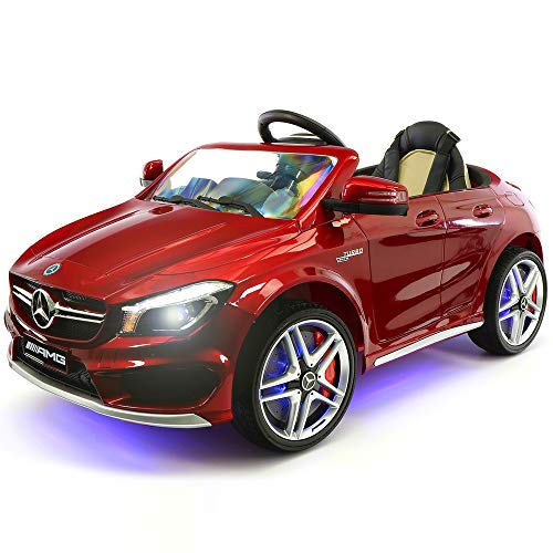 2019 Mercedes Benz CLA 12V Ride On Car for Kids | 12V Engine Power Licensed Kid Car to Drive with Remote, Dining Table, Leather Seat, Openable Doors, LED Lights