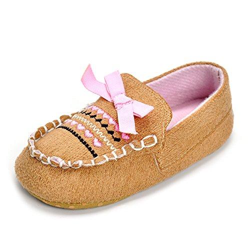 Bebé Niños De Zapatos Mocasín Blue Plaid Talla:6-12 meses - caqui