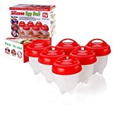 Premium Hard Boiled Egg Cooker - No Shell, Non-Stick Silicone Egg Cups for Boiled, Poached, Steamed Eggs or Vegetable Omelets, AS SEEN ON TV, 6 Pack