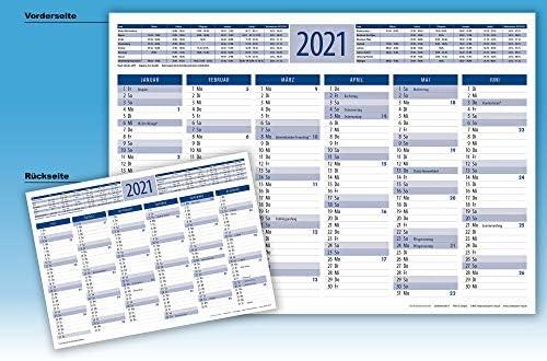 2021 Tischkalender Tafelkalender DIN A4 3 Stück (blau)