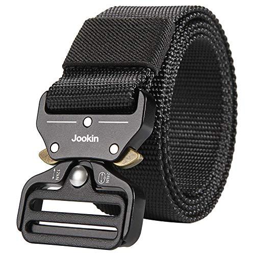 - Mens Nylon Military Tactical Belts Adjustable Outdoor Belt (Black: M-125)