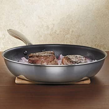 "KitchenAid KCC12NKST Copper Core 12"" Nonstick Skillet Cookware - Stainless Steel"