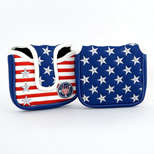 Stars & Stripes High-MOI Mallet Putter Headcover, Heel Shaft (Putter Moi)