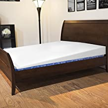 Avana Mattress Elevator - Under Bed 7-Inch Incline Foam Support, Includes White Cotton Cover, King