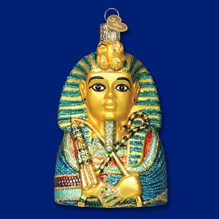 King Tut Glass Blown Ornament
