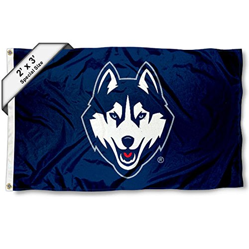 College Flags and Banners Co. Connecticut Huskies 2x3 Foot Flag