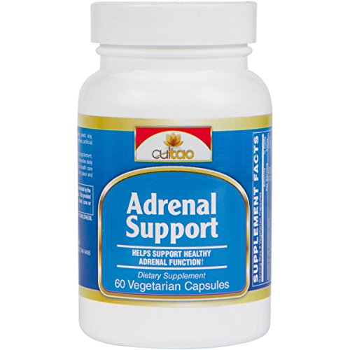 Premium Adrenal Support Supplements for Cortisol Manager, Adrenal Health & Stress Relief - 100% Natural w/ Herbals To Fight Adrenal Fatigue - 60 Vcaps - Vegetarian Formula