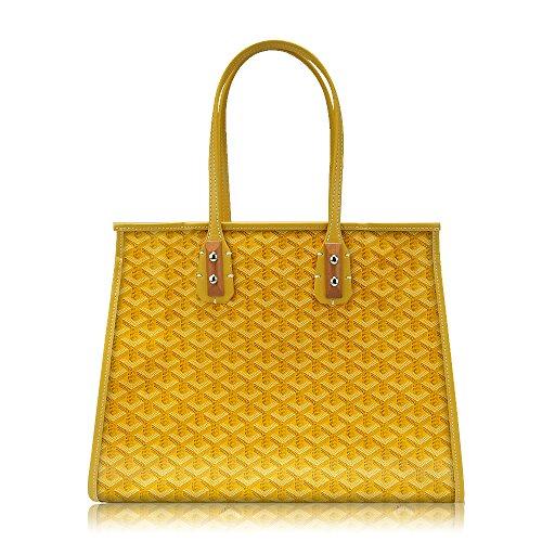 Stylesty High Grade Fashion Shopping PU Tote Bag Set, Designer Shoulder Handbags top Handle Bag (Yellow) (Handbag Yellow Designer)