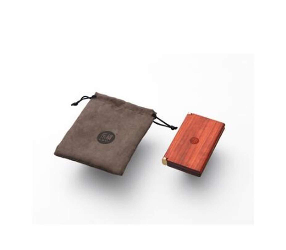 Jinfengtongxun Cigarette Box, Creative Solid Wood Cigarette Case - Business Card Case - Portable Beautiful Cigarette Case - 20 Cigarettes (10.9 6.8 1.8cm) (Color : Red, Size : 10.96.81.8cm)