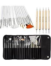 One1X ontwerpen, schilderen, punten, gedetailleerd maken van penselen gereedschapsset voor nagelkunst 20 stuks wit