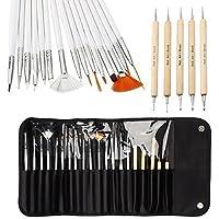 One1X Ontwerpen, schilderen, stippen, detailleren van penselen tool kit voor nagelkunst 20 stuks wit