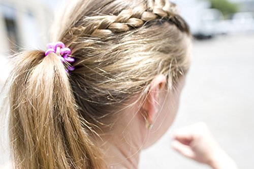 Painless PATENTED OOO Hair Ties. Ponytail holder spiral coil no traceless rubber bands. Best kids girls woman accessory all types of hair. Exercise, workouts & everyday (Metallics) by OOO (Image #4)