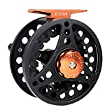 M MAXIMUMCATCH Maxcatch ECO Fly Reel Large Arbor with Diecast Aluminum Body (2/3wt 3/4wt 5/6wt 7/8wt) (Black ECO Reel, 3/4 Weight) Review
