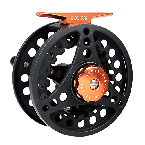 M MAXIMUMCATCH Maxcatch ECO Fly Reel Large Arbor with Aluminum Body (2/3wt 3/4wt 5/6wt 7/8wt) (Black ECO Reel, 5/6 Weight)