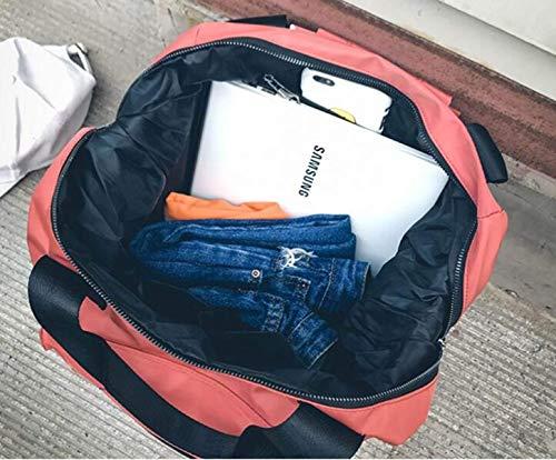 de Hombro Coreano de Negro de Azul la Claro Bolso Personalidad Color Estilo Naranja tamaño de del Viaje Eeayyygch Capacidad Sra Mochila Gran qwOE8Wff