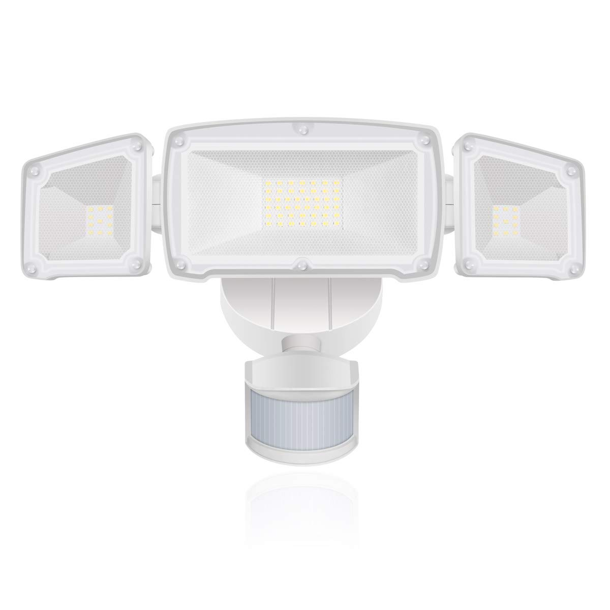 LED Motion Sensor Lights,LED Outdoor Security Light for Entryways, Stairs, Yard and Garage (42W White)