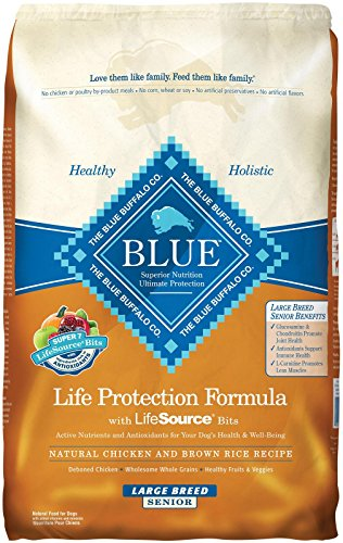 Blue Buffalo Dry Food for Large Breed Senior Dogs, Chicken a