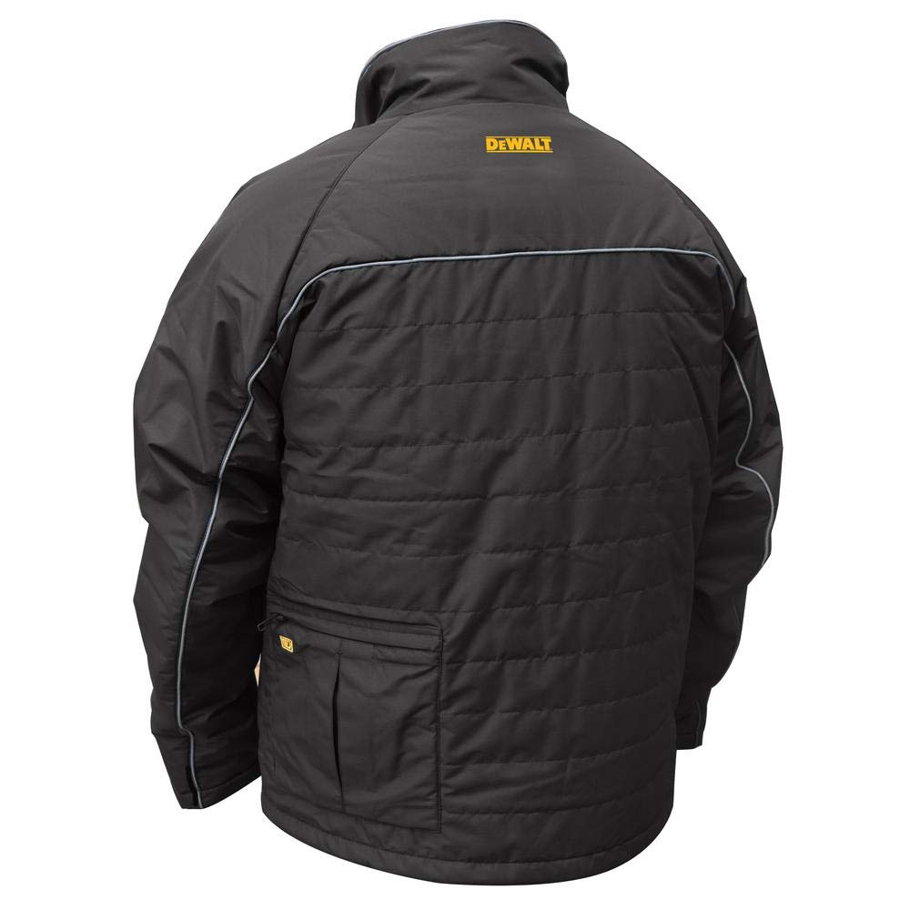 49600bae DEWALT Mens Black Quilted Polyfil Heated Jacket Kit with 20-Volt/2.0 ...