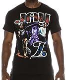 FLEA ALLEY Mens Vintage Hip Hop Printed T-Shirts Jay-Z Purple(L, Black)