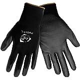Global Glove PUG17 Polyurethane/Nylon Glove, Work, Medium, Black (Case of 144)