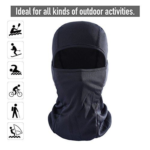 Arctic Shield Waterproof Coat (Balaclava - Windproof Ski Mask - Cold Weather Face Mask Motorcycle Neck Warmer)