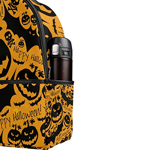 JSTEL Halloween Skull Pumpkin Bat School Backpack 4th 5th 6th Grade for Boys  Teen Girls Kids  Amazon.co.uk  Clothing c1fe40d7697eb