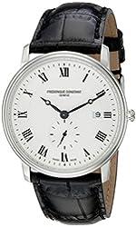 Frederique Constant Men's FC-245M5S6 Slim Line Silver Dial Roman Numerals Watch