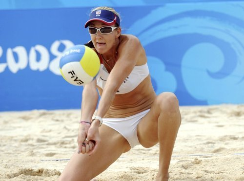 Kerri Walsh Jennings Olympic Hero beach volleyball Limited Print Photo Poster 27x40 #1