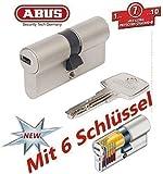 ABUS EC550 Cylindre de serrure (a/b) 30/30mm (c=60mm) avec 6 clés - SKG ** certifié