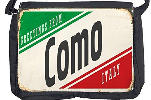 Borsa Tracolla Voglia Viaggiare Città Como Italia Stampato