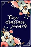 One Sentence Journals: 5 Years Of Memories, Blank Date No Month, 6 x 9, 365 Lined Pages