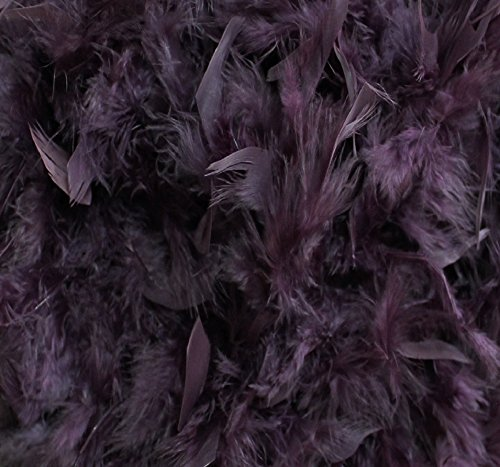 Over 35 Different Solid Color Boas by Cozy Glamour 6 Feet Long 50 Gram Weight (Vintage Plum #100) (Vintage Glamour Costumes)