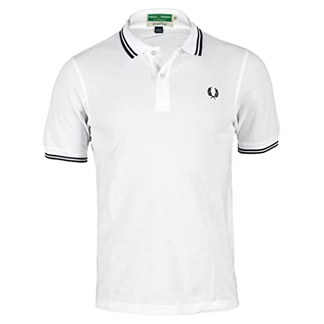 Fred Perry m4294 - 100s15 hombre wickable Tipped polo de tenis ...