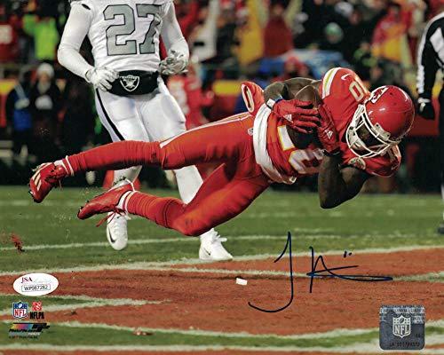 Tyreek Hill Autographed/Signed Kansas City Chiefs 8x10 Photo JSA