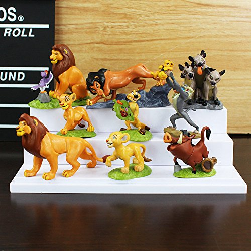Shalleen 9pcs Cute The Lion Action Figures Cake Toppers Doll Kids Boy Girl Toy Gift