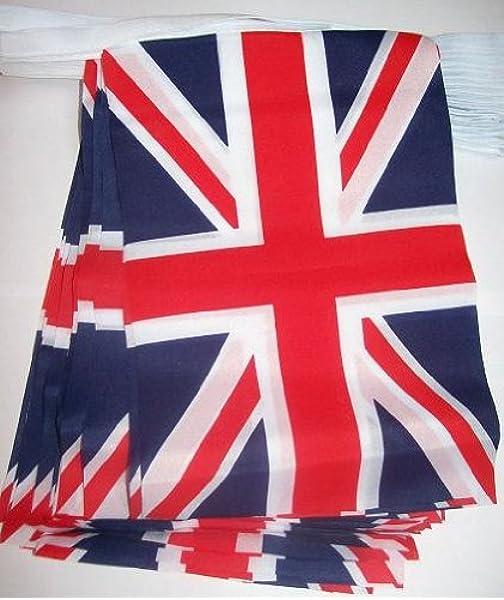 AZ FLAG Guirnalda 4 Metros 20 Banderas del Reino Unido 15x10cm - Bandera Inglesa - BRITANICA – UK 10 x 15 cm - BANDERINES: Amazon.es: Hogar