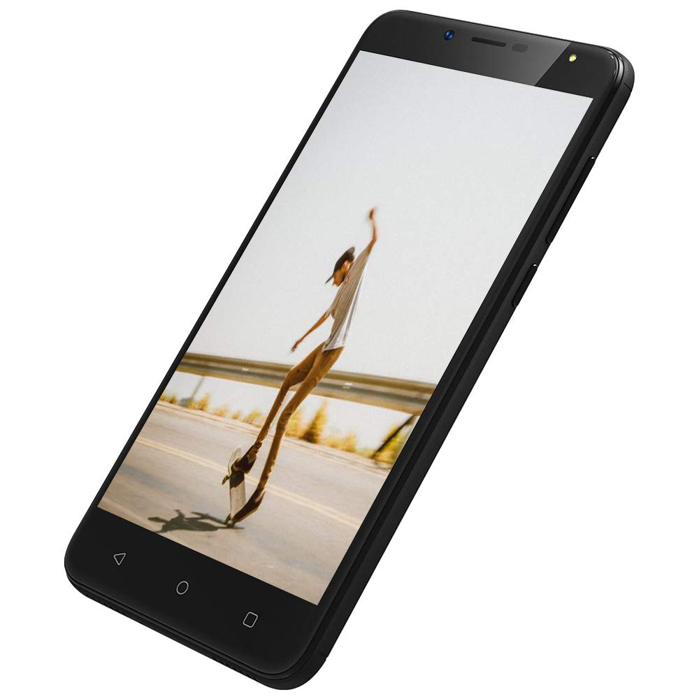 Moviles Libres 4G Movil 5.5 Pulgadas 2GB RAM 16GB ROM Smartphone Libres SIM Doble Telefonos Moviles Android 7.0 Cámara 8MP+5MP Batería de 2970mAh (S6 Telefono Movil 4G,Negro)