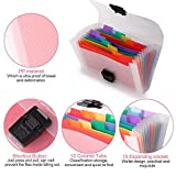 13 Pockets Accordion File Organizer - A6 Plastic