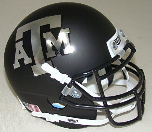 Texas A&M Aggies Alternate BLACK Chrome Schutt Mini Authentic Helmet by Schutt