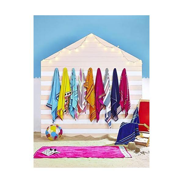 Catherine Lansfield Arcobaleno Coppia Asciugamani Spiaggia–Rosa 5 spesavip