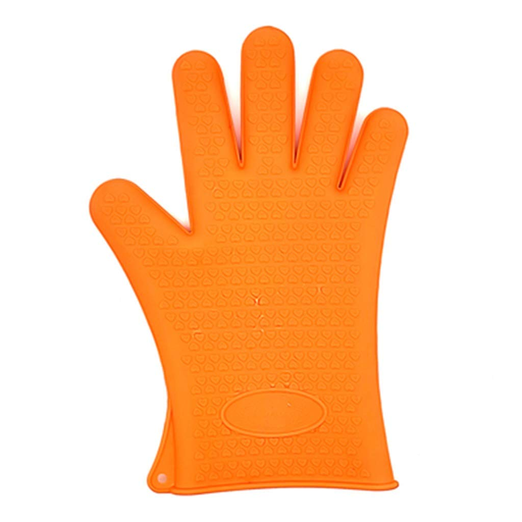 Heat-Resistant Cooking Gloves Recommended by The BBQ Master Three Colors are Available (Color : Yellow)