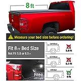 MaxMate Tri-Fold Truck Bed Tonneau Cover works with 2007-2013 Chevy Silverado/GMC Sierra 1500; 2007-2014 Silverado/Sierra 2500 3500 HD | Excl. 07 Classic | Fleetside 8' Bed | w/o Utility Track System