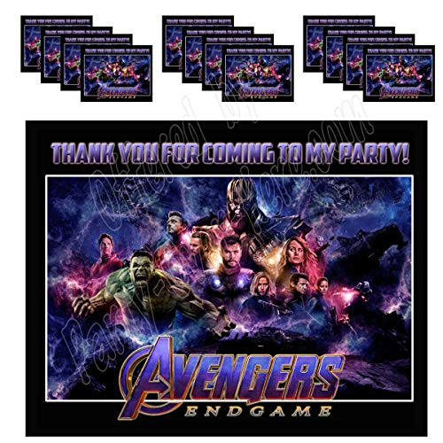 (Avengers Endgame Movie Stickers Party Favors Supplies Decorations Gift Bag Label Stickers ONLY 3.75