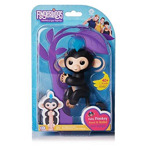 Fingerlings Baby Monkey - Finn - Black (Includes Bonus Stand) from WowWee