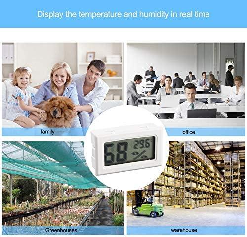 Blanco ClookYuan Mini term/ómetro LCD Digital Profesional higr/ómetro medidor de Temperatura de Humedad Sensor de Pantalla LCD Digital para Interiores