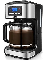 Aicok Coffee Maker, 12 Cups Programmable Drip Coffee Maker with Coffee Pot, Coffee Machine with Timer, Anti-Drip Design, Permanent Filter Coffee Maker, 1.8 Liter Glass Carafe, 900W